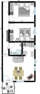 Apartment 4 second  floor layout – Apartment 1 (Ana apartments, Mandre, Island of Pag, 4 to 5 persons) island of pag mandre apartmens ana