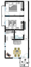 Apartment 3 First floor layout – Apartment 1 (Ana apartments, Mandre, Island of Pag, 4 to 5 persons) island of pag mandre apartmens ana
